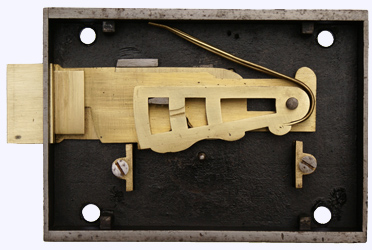 Large Nettlefold A1 Guardian lock - Rim Deadlock interior.