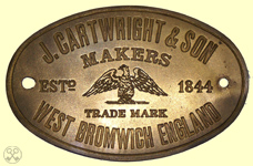 J Cartwright Makers, Plate