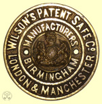 Wilson's Patent Safe Co, plate